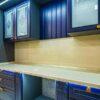 Бело-синяя кухня в классическом стиле Versace на заказ в Калининграде и области